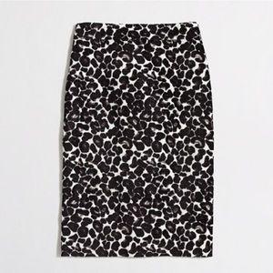 J. Crew Leopard Jacquard Pencil Skirt Size 4
